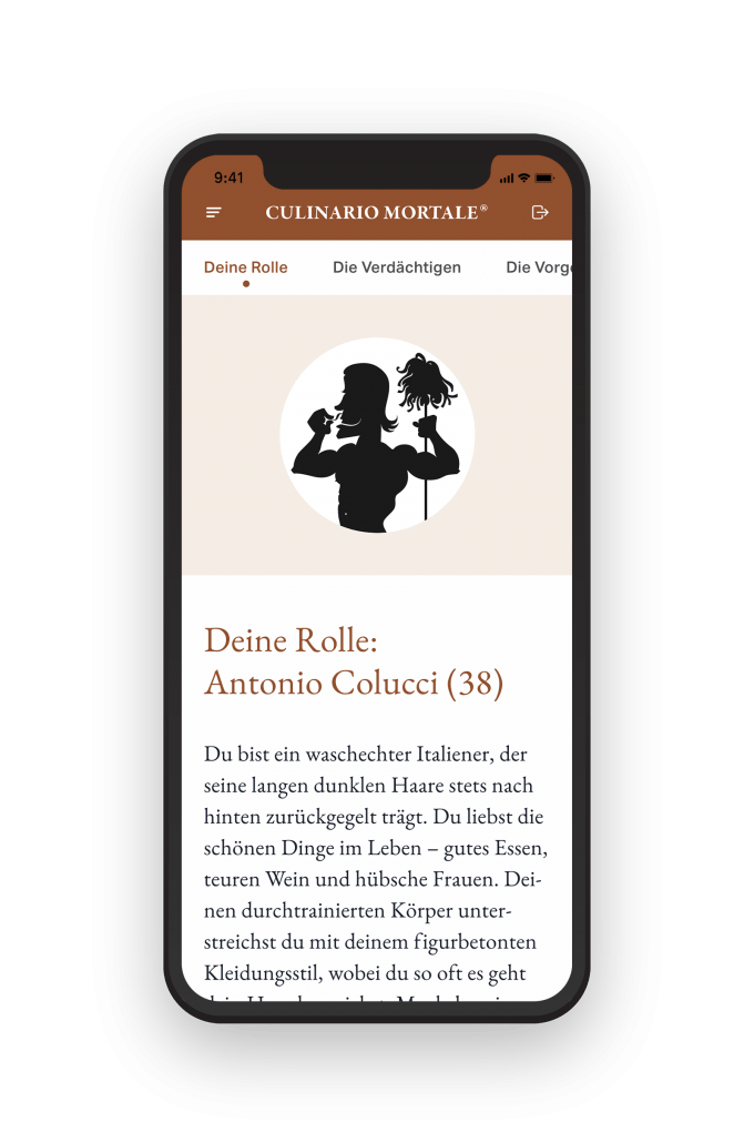 Screenshot von Culinario Mortale Digital